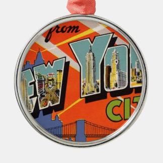 Adorno Metálico Vintage New York City