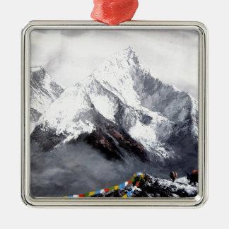 Adorno Metálico Vista panorámica de la montaña de Everest