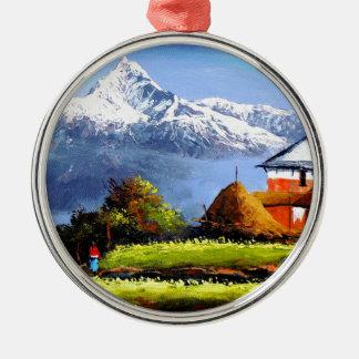 Adorno Metálico Vista panorámica de la montaña hermosa de Everest