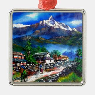 Adorno Metálico Vista panorámica de la montaña Nepal de Everest