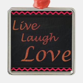 Adorno Metálico Vive el amor de la risa