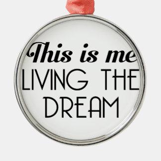 Adorno Metálico Viviendo el sueño