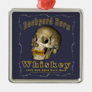 Adorno Metálico Whisky de la quemadura del patio trasero