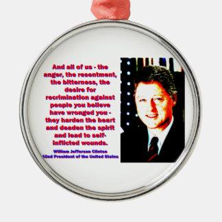 Adorno Metálico Y todos nosotros - Bill Clinton