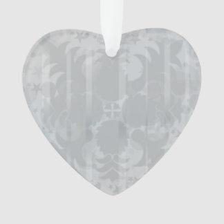 Adorno Modelo floral del gris de plata del vintage