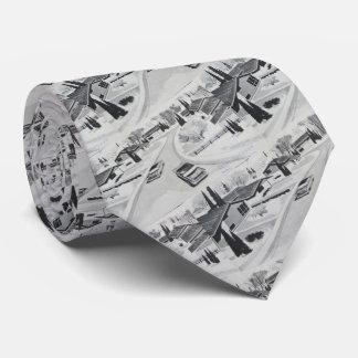 Adorno moderno de los mediados de siglo grises corbatas