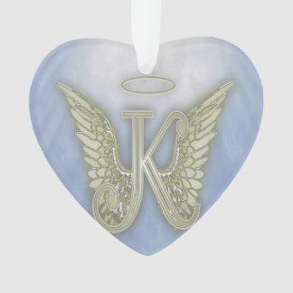 Adorno Monograma del ángel de la letra K