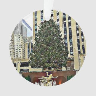 Adorno Navidad de la pista de patinaje del árbol de NYC