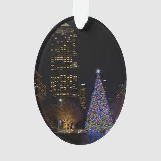 Adorno Navidad en la noche del parque de Warren