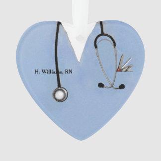 Adorno navidad personalizado de la enfermera