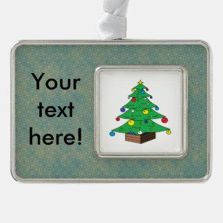 Adorno Navideño Dibujo animado adornado del árbol de navidad