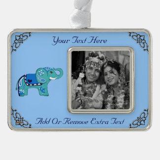 Adorno Navideño Elefante de la alheña (azul/azul claro)