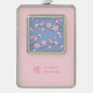 Adorno Navideño Flor de cerezo - azul de la serenidad