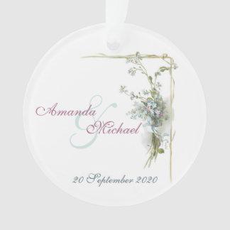 Adorno Nomeolvides conmemorativas del boda