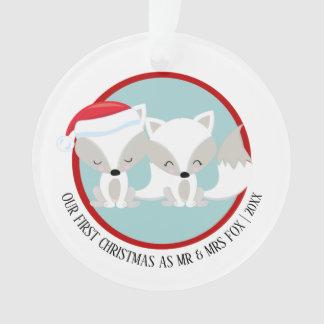 Adorno Nuestra foto personalizada ártica del Fox del