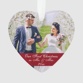 Adorno Nuestro primer navidad como Sr. y señora Wedding