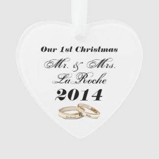 Adorno Nuestro primer navidad Sr. y señora adaptables