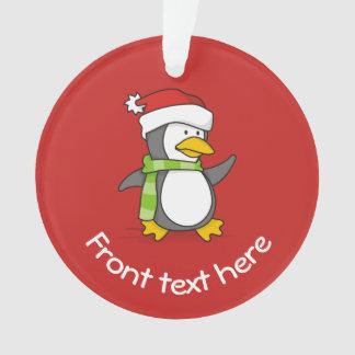 Adorno Pingüino del navidad que camina en nieve