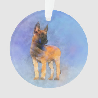 Adorno Pintura del perrito de Malinois del belga -