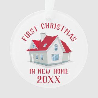 Adorno Primer navidad en nueva foto de familia del hogar