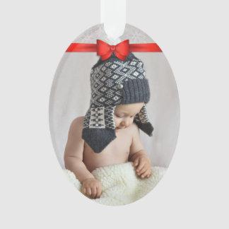 Adorno Primera foto del personalizado del navidad