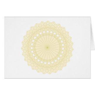 Adorno redondo en el color poner crema tarjeta de felicitación