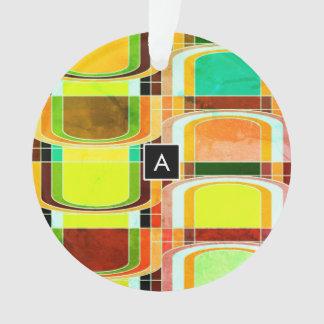 Adorno Retro enrrollado colorido inspirado