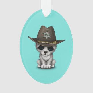 Adorno Sheriff lindo del lobo del bebé