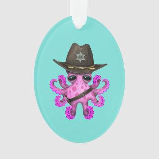 Adorno Sheriff rosado lindo del pulpo del bebé