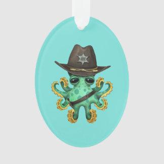 Adorno Sheriff verde lindo del pulpo del bebé