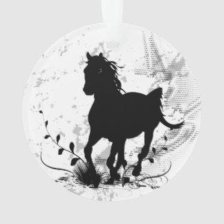 Adorno Silueta, caballo negro
