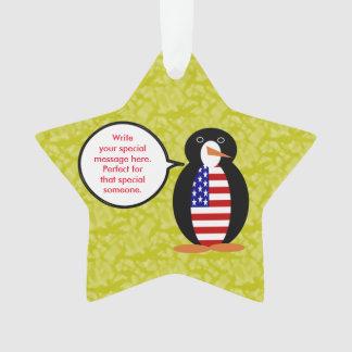 Adorno Sr. Penguin del día de fiesta de Estados Unidos