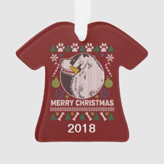 Adorno Suéter feo australiano del navidad del perro de