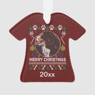 Adorno Suéter feo del navidad del perro de montaña de