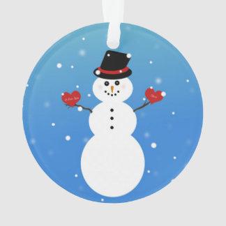 Adorno Te amo más muñeco de nieve