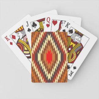 adorno tradicional nativo americano del traje cartas de juego