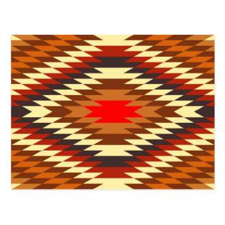 adorno tradicional nativo americano del traje postal