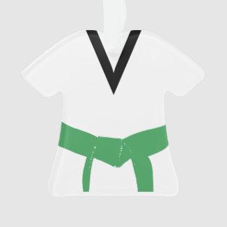Adorno Uniforme del cinturón verde de los artes marciales