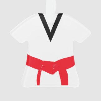 Adorno Uniforme rojo de la correa de los artes marciales