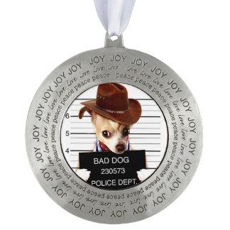 Adorno vaquero de la chihuahua - perro del sheriff