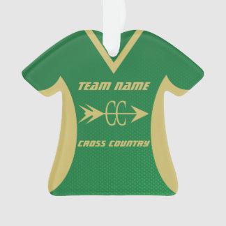 Adorno Verde del campo a través y jersey de los deportes