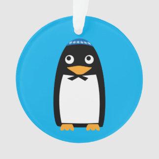 Adorno Yarmulke judío feliz del pingüino de Jánuca