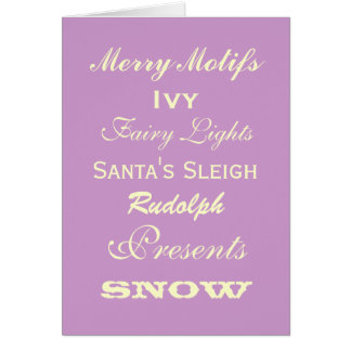 Adornos de la tarjeta de felicitaciones del navida