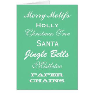 Adornos de la tarjeta de Navidad del estilo del vi