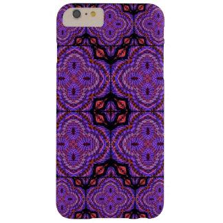 Adornos geométricos de la falsa armadura púrpura funda barely there iPhone 6 plus