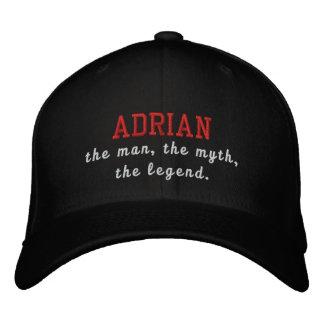 Adrian el hombre, el mito, la leyenda gorra de beisbol bordada