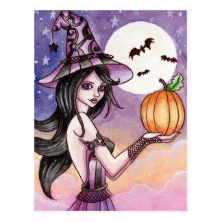 Adrianna - postal de la bruja de Halloween
