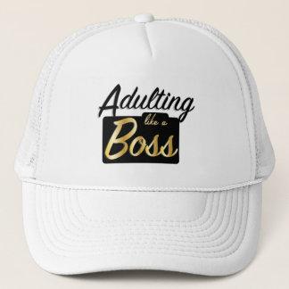 Adulting como un gorra de Boss el |