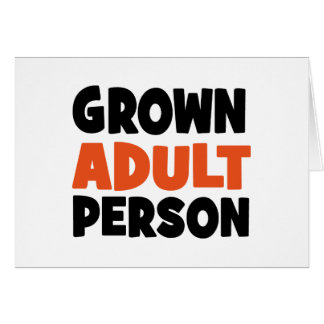 adulto tarjeta
