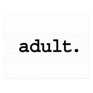 adulto tarjeta postal